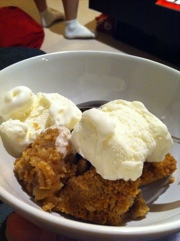 Apple Crumble with Ice-Cream